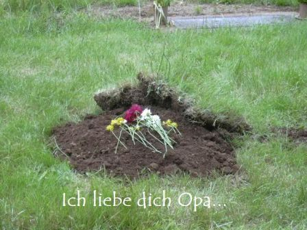 'Ich liebe dich Opa' is 'I love you Grandpa' in German