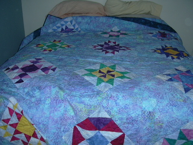 A beautiful quilt made for me by a wonderful woman friend in Montana.